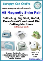SSMAGA6 Cuttlebug etc by Scrappy Cat A6  Magnetic Shim 2 pack for Big Shot