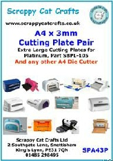 SSPA41.5 A4 x 1.5 mm Plastic Shim for Tangerine and any A4 Die Cutter