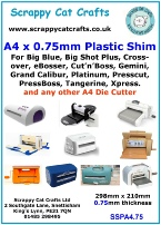 A4 Silicone Embossing Mat for Gemini /& Any A4 Die Cutter SEA4S.8  8